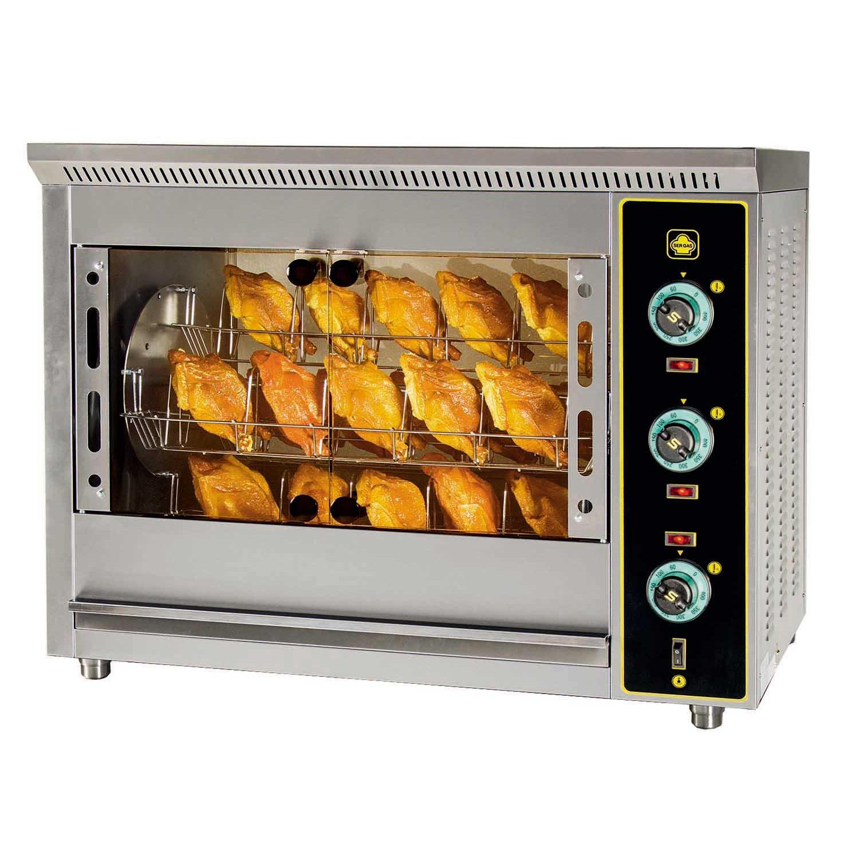 SERGAS T24 Επιτραπέζια Ηλεκτρική Κοτοπουλιέρα με Περιστρεφόμενα Καλαθάκια - Χωρη επαγγελματικός εξοπλισμός   κουζίνες πλατό φριτέζες βραστήρες   κοτοπουλιέρες  ε