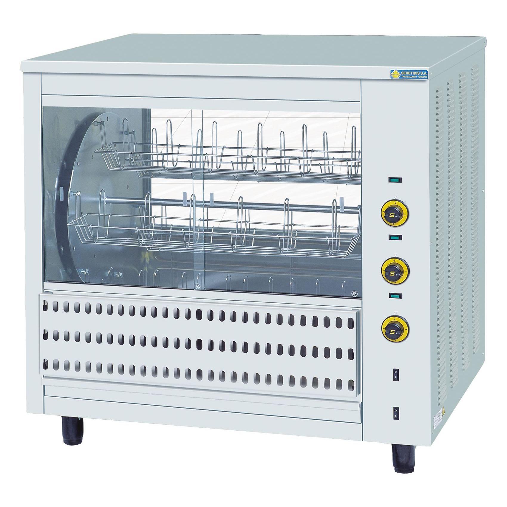 SERGAS T36 Επιτραπέζια Ηλεκτρική Κοτοπουλιέρα με Περιστρεφόμενα Καλαθάκια - Χωρη επαγγελματικός εξοπλισμός   κουζίνες πλατό φριτέζες βραστήρες   κοτοπουλιέρες  ε