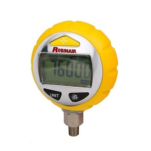 "ROBINAIR VG-1 Ηλεκτρονικό Μανόμετρο Κενού 1/8"" - 27NPT Αρσενικό (1Atm - 10Micron εργαλεία για ψυκτικούς   κάσες μανομέτρων   μανόμετρα   λάστιχα πληρώσεως  εργαλ"